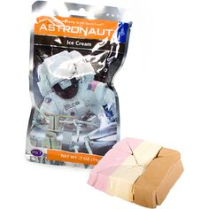 If you're a budding astronaut (course they're into Firebox) you'll need to start eating space food. Developed for the Apollo missions, these deliciously healthy treats have been frozen to -40c, vacuum dried and sealed in special foil pouches. Houston, we have ice cream. I have actually tried this, it's strange but surprisingly quite nice.