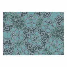 KESS InHouse Alison Coxon 'Tribal Water' Gray Blue Dog Place Mat, 13' x 18' *** Startling review available here  : Dog food container
