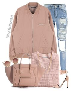 """""""Everyday Street Style"""" by highfashionfiles ❤ liked on Polyvore featuring Boohoo, H&M, ASOS, Yves Saint Laurent and Quay"""