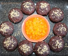 Eggless-cocoa-muffins-with-pumpkin-jam