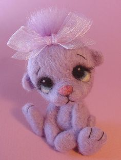 Needle Felted Bear Sophie by Zada Creations