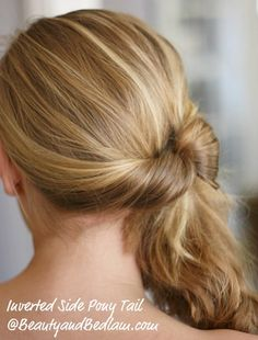 30 Ways Hair Challenge: Inverted pony tails. Something new in less than 30 seconds.