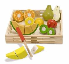 Melissa & Doug play food is a staple in our store. You can't play kitchen without some good quality food toys.