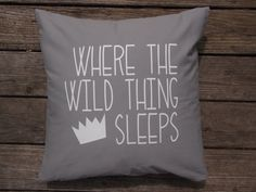 Where the Wild Things Are Book inspired pillow cover , Max Character , Boys playroom decor , Bedroom pillows , Study room , Teenager room