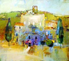 ۩۩ Painting the Town ۩۩ city, town, village & house art - Petrenko Yuriy | Landscape