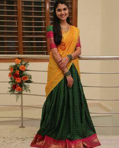 Half Saree, Lehenga, Sari, Gowns, Fashion, Saree, Vestidos, Moda, Dresses