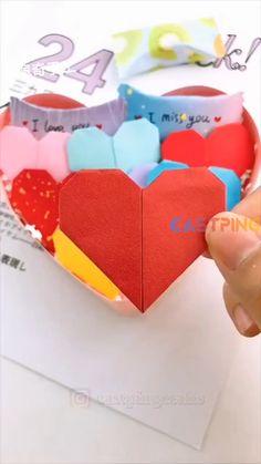 Instruções Origami, Paper Crafts Origami, Creative Bookmarks, Creative Crafts, Diy Crafts Hacks, Easy Crafts, Paper Crafts For Kids, Diy Gifts, Blog