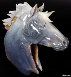 Agate Crystal Horse Head