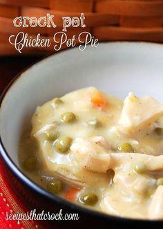 Crock Pot Chicken Pot Pie - Recipes That Crock! Easy crockpot recipes.