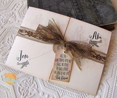 Vintage Destination Wedding Invitation by SunshineandRavioli