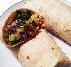 This delicious specimen is a tofu burrito.