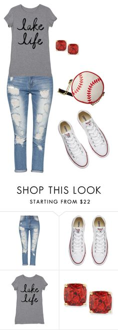 """""""baseball players wife"""" by abrown805 on Polyvore featuring Converse, Kate Spade and Betsey Johnson"""