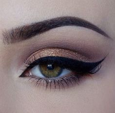 Makeup and eyeliner.