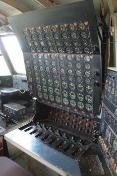 Engineer's panel on Howard Hughes' H4 Hercules flying boat AKA The Spruce Goose.