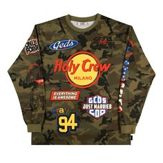 """The """"Holy Crew"""" Teeis a 100% cotton classic fit longsleeved…"""