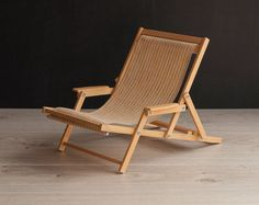 1/4 scale Doll Beach Chair with Armrests Striped by toteetoy
