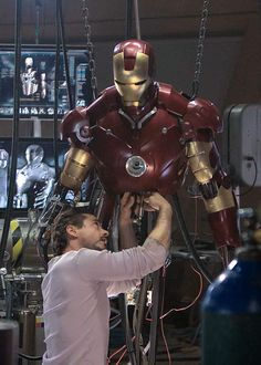 Tony Stark at work. I think it was his work ethic that inspired me but it's probably not a healthy one.