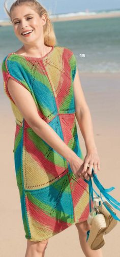 Lace Knitting, Knitting Patterns, Knit Crochet, Knit Dress, Dress Skirt, Crochet Dresses, Free Pattern, Cover Up, Saree