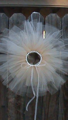 make and maybe add ann. date Tule Wreath to hang for the month of our wedding