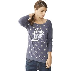 Beagle Freedom Project Eco Jersey Stars Wide Neck Pullover - Life Love Liberty
