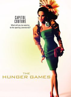 Hunger Games Barbie - Capitol style. #thehungergames #hungergames #capitolcouture #katniss #effietrinket