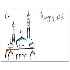 Eid cards that are Festive from #Soulfulmoon-Abstract Mosque