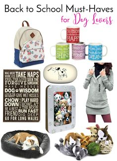Back To School Must-Haves for Dog Lovers | http://www.thelazypitbull.com/back-to-school-style/