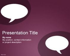 Chat PowerPoint template is a nice and clean PowerPoint template that you can use for discussions in PowerPoint or presenting PowerPoint about chat or messaging technologies like SMS or MMS but also Blackberry PIN or BB MSN as well as Whatsapp or Liveprofile applications