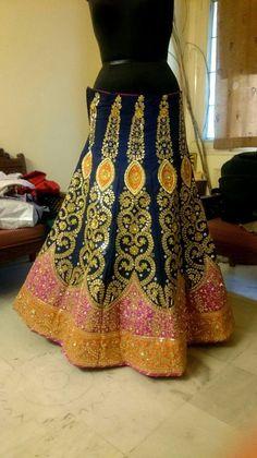 Gota Patti Lehenga, Beautiful Moments, Royals, Lace Skirt, Fashion Ideas, That Look, Elegant, Skirts, Classy