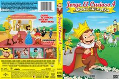 Jorge El Curioso 4 Un Mono de la realeza DVD Caratula etiqueta Curious George Royal Monkey Pbs Kids, Curious George, Artwork Pictures, Monkey, Anime, Family Guy, Apps, Announcement, Bubble