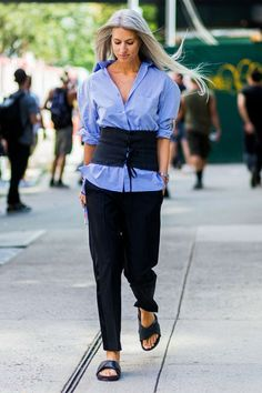 Image result for sarah harris new york fashion week                                                                                                                                                                                 More