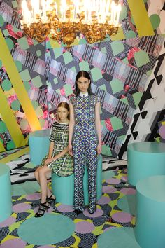 We're tripping on these images from Peter Pilotto's Pitti Immagine exhibition, aren't you?