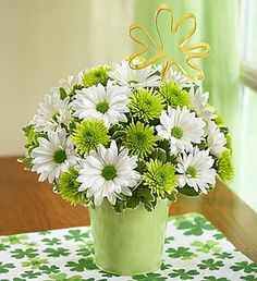 The Irish Luck Bouquet #Houston #Flowers #Delivery #Daisies #Spring