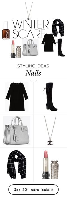 """Sem título #69"" by suia-dylan on Polyvore featuring Max&Co., Splendid, Warehouse, Yves Saint Laurent, Essie and winterscarf"