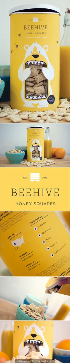 Concept: Beehive Honey Squares #packaging #design | by Lacy Kuhn