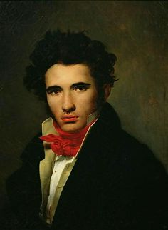 Self-portrait (ca. 1818) Léon Cogniet. Musée des Beaux-Arts d'Orléans (Looks like Jane Austen's Willoughby to me.)
