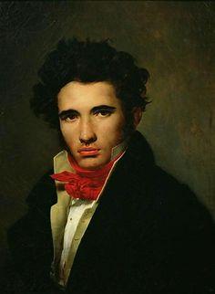Self-portrait (ca. 1818) Léon Cogniet. Musée des Beaux-Arts d'Orléans (Looks like Jane Austen's Willoughby to me.)