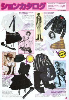 Old Anime Fashion Grunge Goth, Nu Goth, Estilo Grunge, Fashion Mag, Japan Fashion, Punk Fashion, Fashion Outfits, Visual Kei, Yazawa Ai