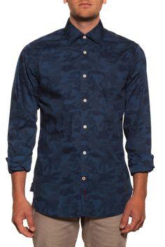 Abbie&Rose - shirt - Leadville - navy blue camouflage - 69€
