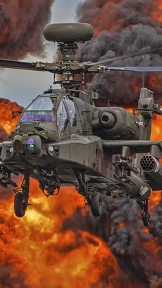 Military / Boeing Apache Mobile Wallpaper Board: Planes, Jets, and Helicopters Attack Helicopter, Military Helicopter, Military Jets, Military Weapons, Military Aircraft, Air Fighter, Fighter Pilot, Fighter Aircraft, Fighter Jets