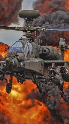 Military / Boeing Ah-64 Apache (1080x1920) Mobile Wallpaper