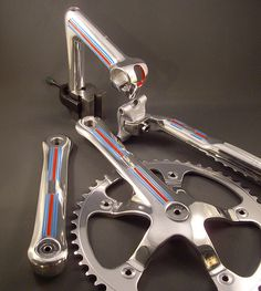 "Campagnolo ""Martini"" pista gruppo. I usually don't suggest ruining C-Record era stuff, but this looks cool."