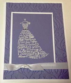 Stampin Up Wedding by mbrixey - Cards and Paper Crafts at Splitcoaststampers