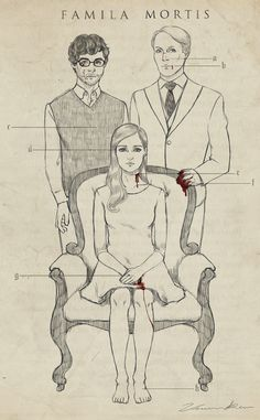 MURDER FAMILY! Gosh I'm not a Hannigram shipper but this family almost made me be....stupid Hannibal!