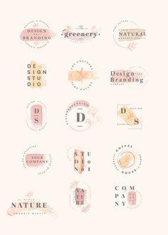 Floral brand and logo designs vector collection Graphic Design Branding, Corporate Design, Logo Branding, Web Design Logo, Product Branding, Bakery Logo Design, Minimal Logo Design, 3d Logo, Corporate Branding