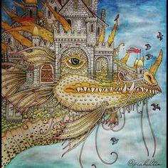 Vilin San by Tomislav Tomić... #vilinsan #zemljasnova #croatianlineart #colouringtomislavtomić #dragonary