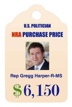 NRA purchase price for a House Representative. NRA dollar amounts shown are CAREER totals to date as obtained from the OpenSecrets.org website. *updated November 2015 to include declared incumbents, 2016 elections*