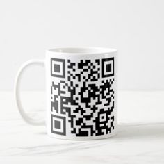 QR code Design Coffee Cup- Best on Black or Light Coffee Mug - black gifts unique cool diy customize personalize Black And White Style, Black White Fashion, Fashion Lighting, Mug Designs, Cool Diy, Or, Coffee Cups, Unique Gifts, Gift Ideas