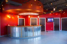Downtown Atlanta Veterinary check-in desk by #BlueFrog Design-Build Firm