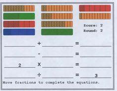 Fraction Bars Interactive Games